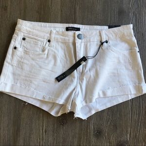 New!  STS Blue white denim distressed shorts